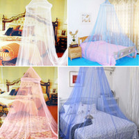 100% Polyester Cotton Column ELEGANT ROUND LACE INSECT BED CANOPY NETTING CURTAIN DOME MOSQUITO NET OUTDOOR HG-0046