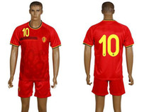 14- 15 World Cup Belgium Home Uniforms Red Shirts and Short E...