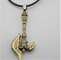 Wholesale Ou Style Retro Fashion Propitious Cow Head The Axe Leather Cord Pendant Necklace
