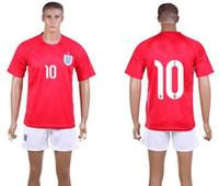 14- 15 World Cup England Away Uniforms Red Shirts and Short E...