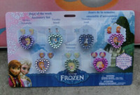 Wholesale 2014 New Girls Anna Elsa Doll Frozen Ring Sets Baby Girls Party Ring Kids Adjustable Ring As Christmas Xmas Gift