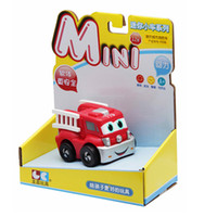 5-7 Years Car Plastic Soft Material Racing Car Pull Back Inertia Car Toys Cars Baby Mini Cars Soft-Shell Cartoon Red Fire Truck Baby Like To Play