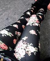 Wholesale Hot Sale New Style The Korean Women Denim Leggings For Women Roses Slim Was Thin Fashion Jeans Leggings
