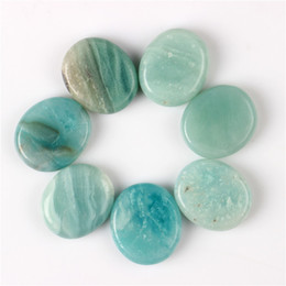 Wholesale 7 pieces Amazonite Palm stone Reiki Healing Chakra with Free pouch