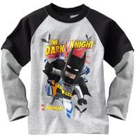 batman tshirts - Children s Tee Shirts Batman Boy s tshirts Long Sleeve Jersey Kids Tshirt Boys Clothes ZW870H