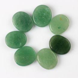 Wholesale Green aventurine pieces Palm stone Reiki Healing Chakra with Free pouch