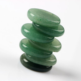 Wholesale Green aventurine pieces Palm stone Reiki Healing Chakra with Free pouch