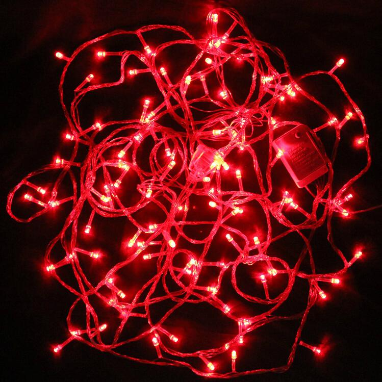 Holiday Decorations Red Led String Lights Christmas Decoration Lights Charm Pendant Led Red ...