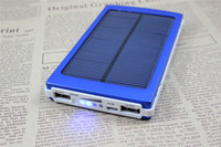 Wholesale Solar Battery Panel External Charger mah Power Bank Dual USB Charging for Laptop Iphone Samsung Cell Phones