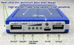 Солнечное зарядное устройство и батарея 5 Цвет панели солнечных батарей 30000mAh Dual USB LED зарядка порта питания банка с пакетом Разъем для подключения сотового телефона от Производители панель солнечных батарей