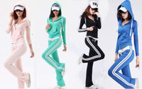 Men Cardigan Solid Sports & Leisure Hooded Sweatshirts Women's Casual Suit Low-waist Slim Coat Tops+Pant 2pcs set XCS020