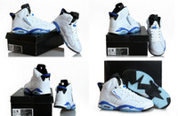 Wholesale New Model High Quality Air Retro VI White Sport Blue Men s Basketball Sport Footwear Sneakers Trainers Shoes