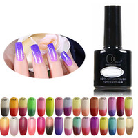 uv gel nail polish - 12pcs Temperature Change Nail Gel Color Nail art Shellac LED UV Gel Nail Polish gelish Soak Off Nails
