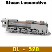 Wholesale DIY model Build Metal D Models Metallic Nano Puzzle DIY D Steam Locomotive Laser Cut D Model