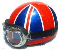 Wholesale Whosale New Retro Vespa half helmet W Goggles scooter helmet motorcycle helmet S M L XL XL