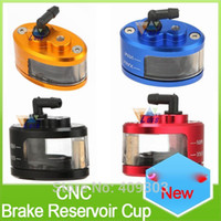 Wholesale New universal motorcycle CNC aluminum brake oil reservoir fluid oil cup for sport street bike scooter dirt bike colors