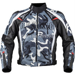 New design motorcycle racing camo titanium jacket, winter enduro racing jacket with 5pcs protector and Removeable Lining