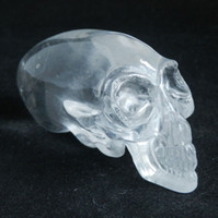 Wholesale 2 quot White Quartz Carved Alien Crystal skull Maya realistic skull