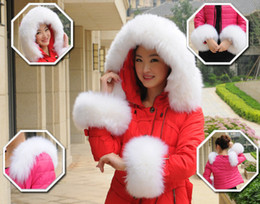 Wholesale Large wool hat top fur collar really plush fur cuffs custom made nike