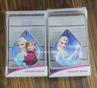 Wholesale New frozen double sided mirror Anna elsa water modelling PU shell carries a small mirror