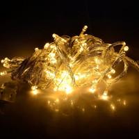 achat en gros de lumières de noël à vendre-Noël LED gros Light cordes - Location Vente 10pcs 9 couleurs 10m 20m 30m de Noël Led Noël / mariage / Décoration Parti Lumières 110V 220V