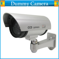 Wholesale Cheap Wireless Home Surveillance Security Dummy Camera Fake IR Simulation Camera Waterproof LED Flashing Indoor Outdoor Bullet CCTV