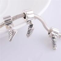Wholesale 925 Sterling Silver Charms Original Screw Thread Crimp End LW245 Shoes Pendant Beads Compatible With European Pandora Bracelets