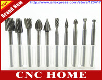 Wholesale HSS Routing Router Bits Burr Rotary Tools Suit Dremel Rotary Tool Engraving Wood Working Tools