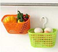 Wholesale Draining plastic hanging basket kitchen bathroom storage rack storage basket storage basket storage basket