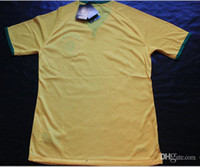 Thailand Quality World Cup Brazil Home Shirts Yellow Soccer ...