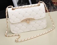 Wholesale 2014 new summer influx of European and American mini Small Quilted bag diagonal shoulder bag women handbag chain collapse