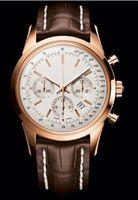 2014 nouveau Luxe de luxe bently marron bracelet en cuir hommes montre originale fermoir quartz mouvement chronomètre homme montre-bracelet 1884 AAA qualité
