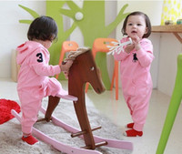 Wholesale name brand baby clothes pink gray colors girls long sleeve overalls infant bodysuit for autumn spring sizes