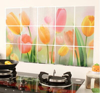 Wholesale Oil sticker kitchen wall stickers high temperature aluminum foil variety of decorative cabinets selection