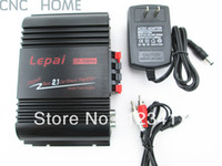 DLP Mini Amplifier Lepai NEW Lepai LP-168HA HiFi 2.1 Super Bass Car Amplifier Stereo Amp With Power Adapter and Audio Cable Free Shipping