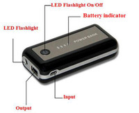 Wholesale Cheap mAh Smart Mobile Phone Power Bank External Battery Charger Power Pack with Flashlight