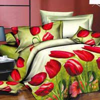 bedcover sets - Hot Sale bedsheet white flower cotton bed set Queen size bedcover d bedding set luxury Duvet quilt cover sets