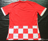 Thailand Quality World Cup Croatia Home Shirts Red Soccer Je...
