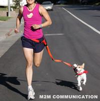 best training materials - Nylon material best quality creative DOG LEASH Jogging Hands Free Buddy REFLECTIVE Lead Running Hiking Training Walk