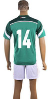 World Cup Mexico Home Uniforms Green Soccer Jerseys #14 Chic...
