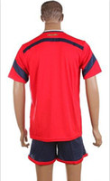 World Cup Columbia Away Uniforms Red Soccer Jerseys Embroide...