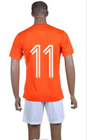 World Cup Holland Home Uniforms Orange Soccer Jerseys #11 Ro...