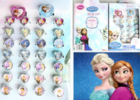 Wholesale 10 Box Acrylic Rings ring lovely animation cartoon child s Frozen rings jewelry jewellery Christmas Gift
