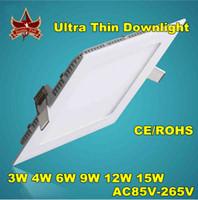 No 85-265V 2835 Free shipping 3W 6W 9W 12W 15W 18W Led Ceiling Panel Lamp High Power Warm White Led Down Light 85-265V