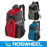 Wholesale Roswheel Bicycle Riding Backpack Outdoor Backpack Cycling Folding Bag Waterproof Nylon Rainproof Cover Red Blue Gray
