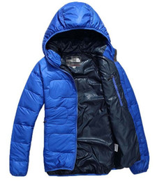 Wholesale 1 piece Polyester White Duck Down Men s Down Coats Winter Cold proof Hoodies Male Down Jackets Loose Man outerwear Parkas colors
