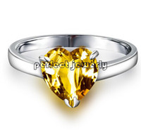Cheap Citrine ring Natural citrine ring 925 sterling silver plated 18k white gold Perfect jewelry DH#14083111