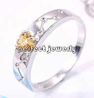 Gemstone Ring 925 sterling silver Citrine ring Natural citrine ring 925 sterling silver plated 18k white gold Perfect jewelry DH#14083113