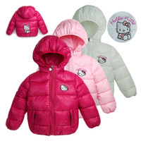 Coat Girl Spring / Autumn wholesale New children's outerwear hellokitty Girl Hooded cotton vest girl's clothes,Hat detachable vest,baby coats free