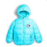 Coat Girl Spring / Autumn wholesale New children's outerwear hellokitty Girl Hooded cotton winter coats girl's clothes,Hat detachable vest,girls winter coats free